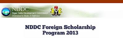 2013 NDDC Postgraduate Foreign Scholarship Program.