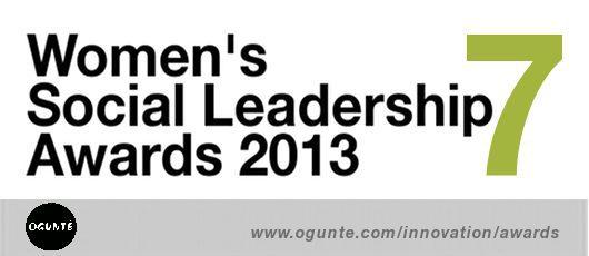 WOMEN'S sOCIAL Leadership Awards 2013