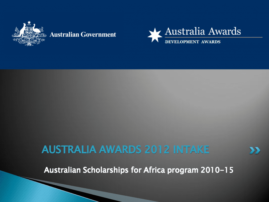 2014/2015 Australia Awards – Africa Fellowships to study in Australia.