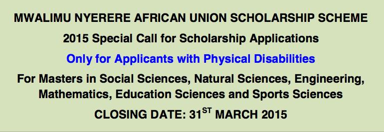 mwalimu-nyerere-african-union-scholarship-scheme-2015