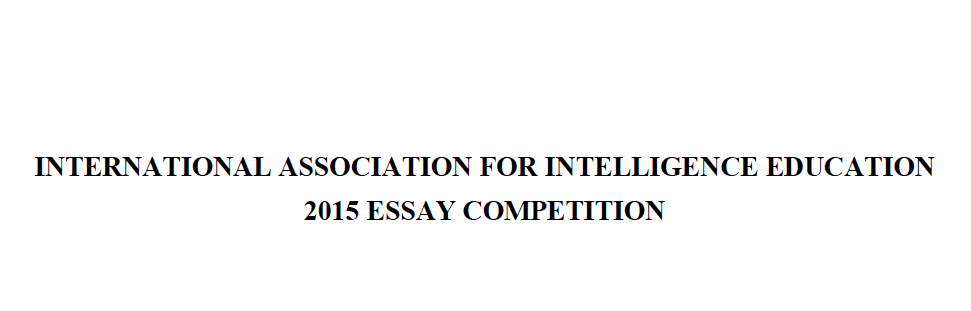 intelligence essay contest