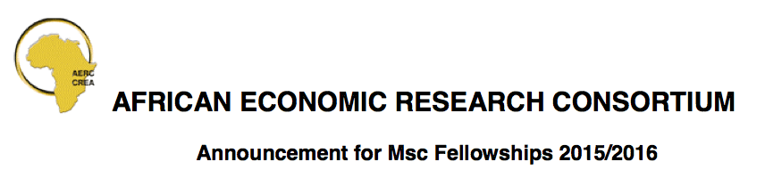 african economic research consortium call for papers The african economic research consortium (aerc) in partnership with giz and the world bank are calling for fellowships for a phd specialization course on  world bank/african economic research consortium (aerc) phd scholarships for african students 2019  call for proposals for early-career researchers from sub-saharan africa 2019 call for.