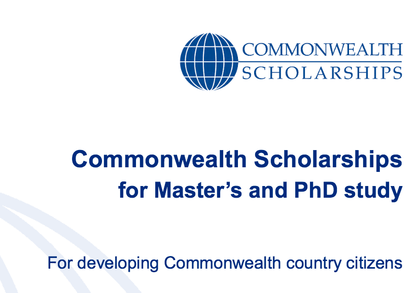 Commonwealth Master's & PhD Scholarships