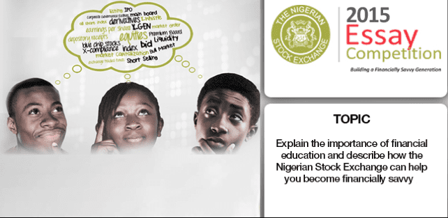 nigerian stock exchange essay The nigerian stock exchange (nse) announces essay competition for nigerians which is open to only students in senior secondary schools.