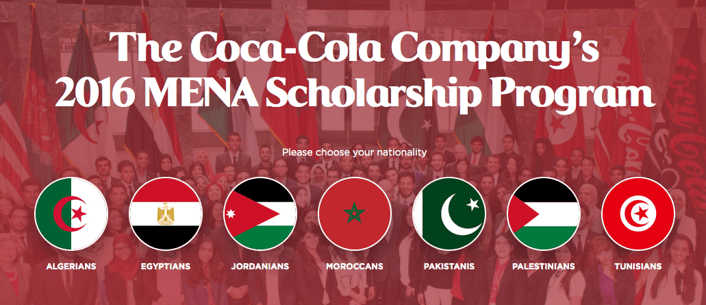 coca cola scholarship Coca-cola scholars program is an achievement-based scholarship awarded to graduating high school seniors each year students are recognized for leadership.