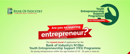 Image result for The Bank Of Industry (BOI) N10 Billion Youth Entrepreneurship Support (YES)