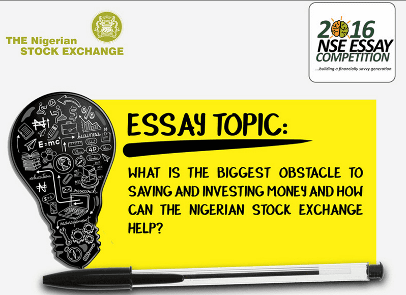 nigerian stock exchange essay competition 2011 A student of sacred heart college in apapa, lagos, chiamaka nwajiaku, apapa,  has won the first prize at the the nigerian stock exchange.