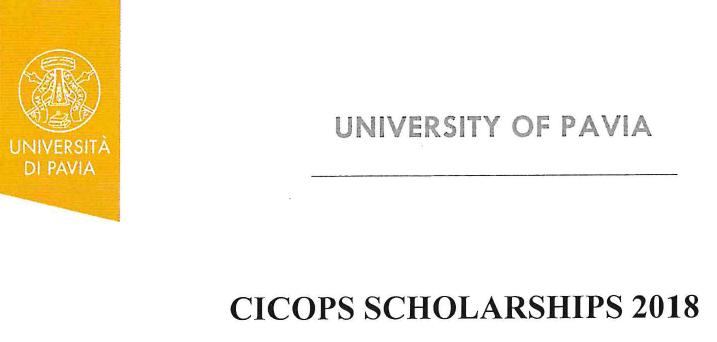 CICOPS scholarship 2018