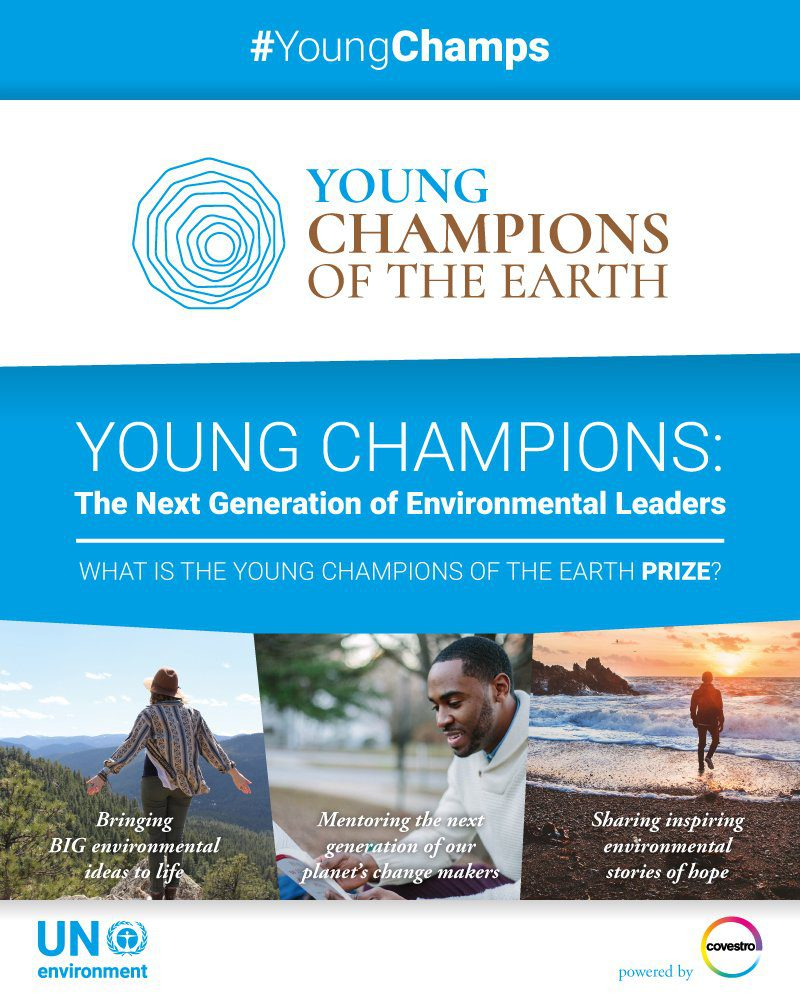 UN Environment Young Champions of the Earth Competition 2017 (US$15,000 in seed funding & Funded to UN Assembly in Nairobi & New York) 2