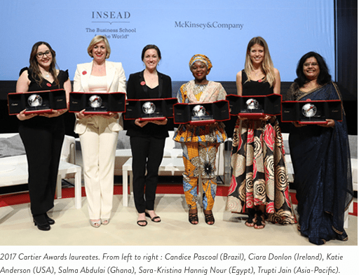 Cartier Women's Initiative Awards 2018 for Innovative Women Entrepreneurs Worldwide (US$ 100 000 in prize money) 1