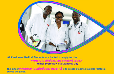Call for Applications: Merck Hypertension & Diabetes Awards 2017 for Medical Students. 2