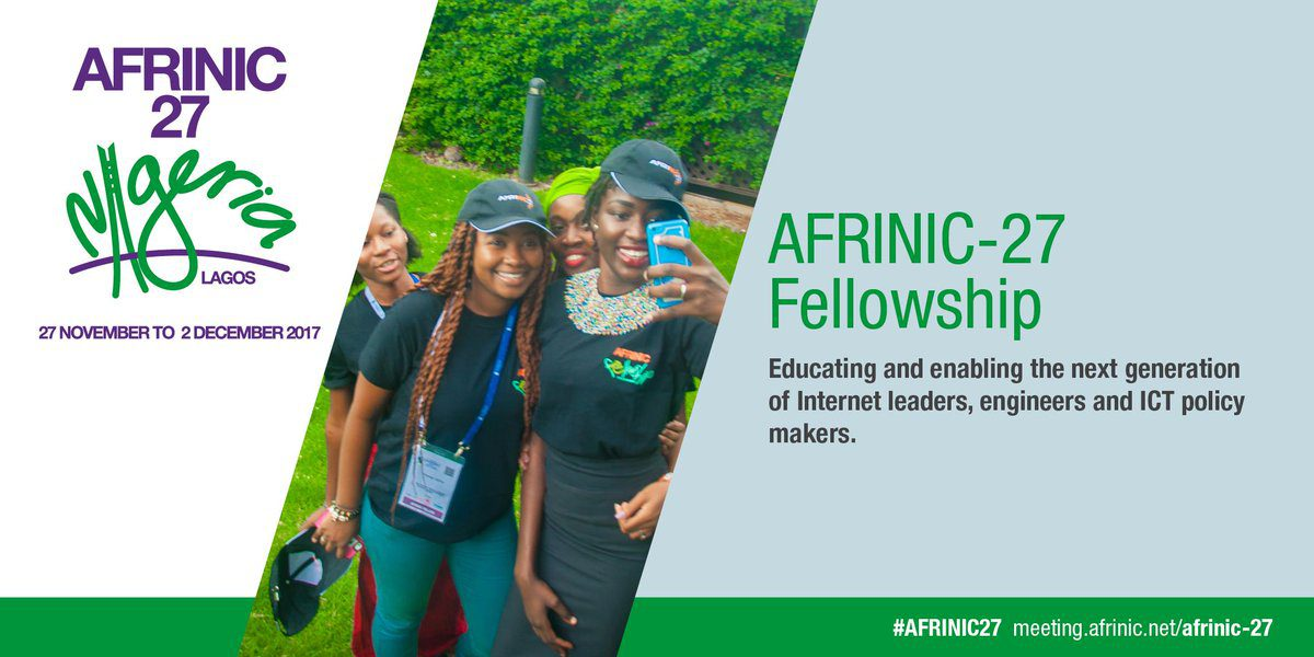 AFRINIC Fellowship Program 2017 to attend the AFRINIC-27 Meeting in Lagos,Nigeria (Funded)