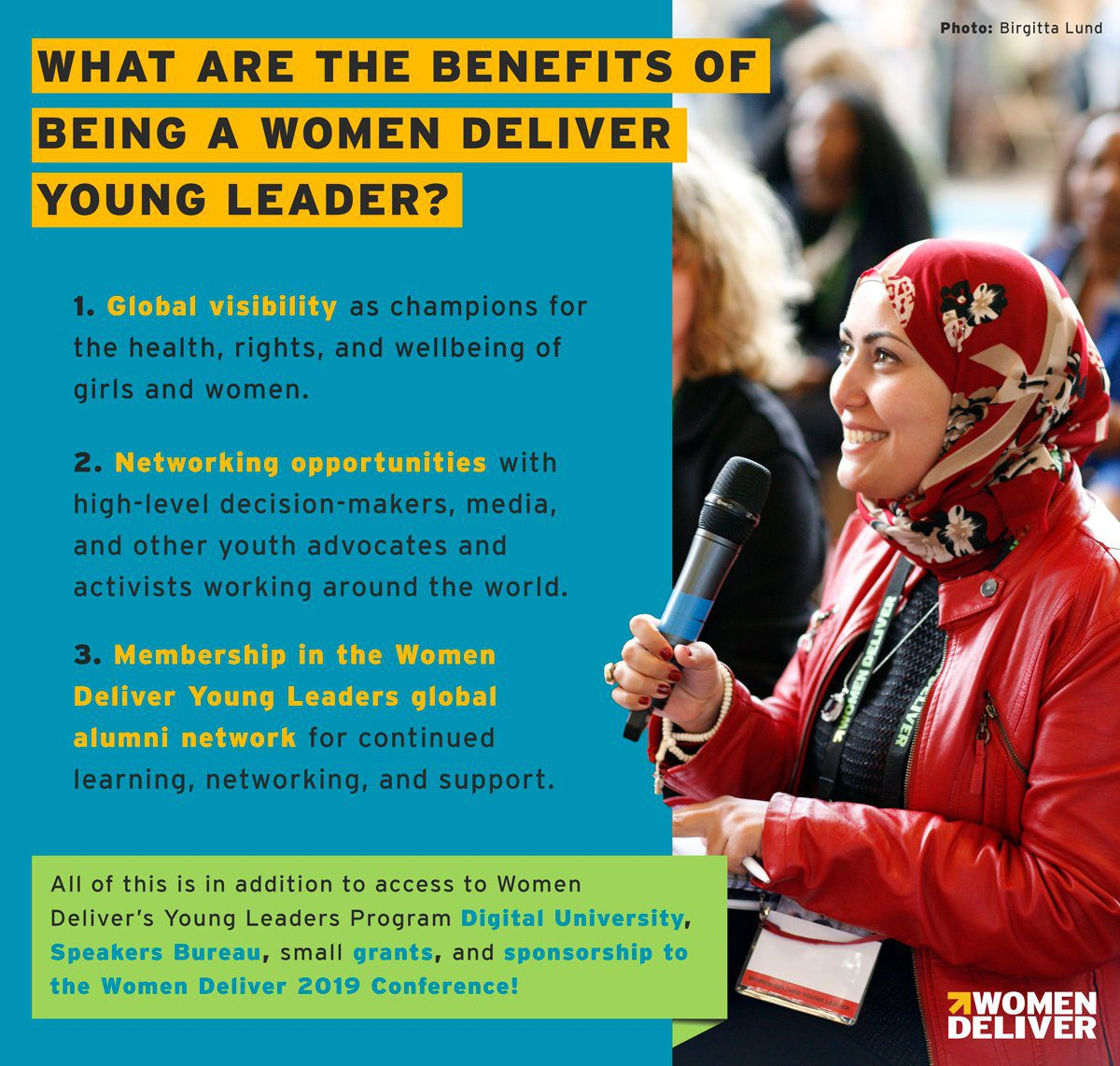 Women Deliver Young Leaders Program 2018 (full scholarship to attend Women Deliver Global Conference 2