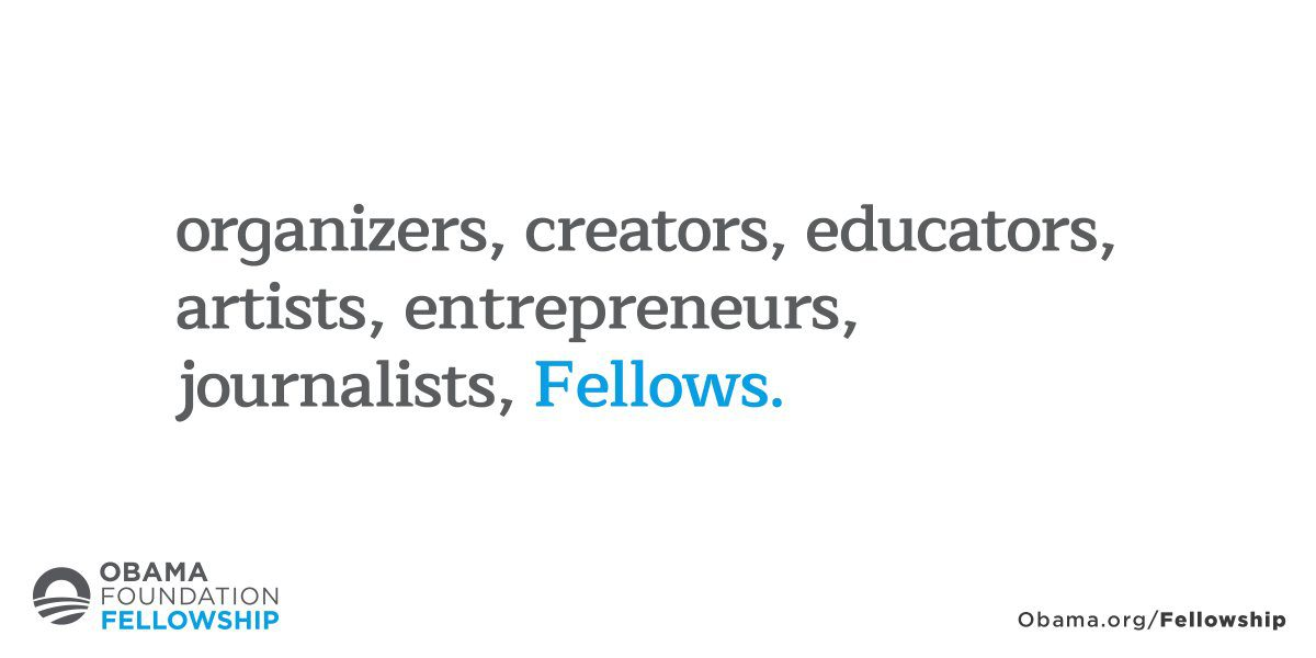 Obama Foundation Fellowship 2018/2019 for civic innovators worldwide (Fully Funded) 1